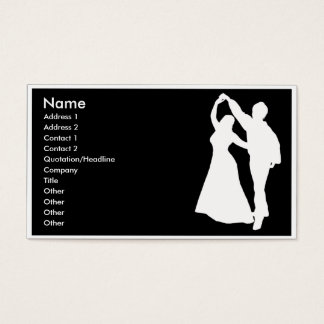 carte de visite de danse de salon