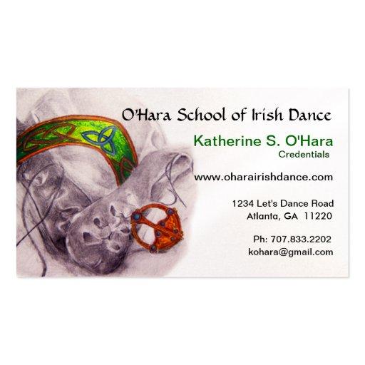 Carte de visite de danse d'Irlandais