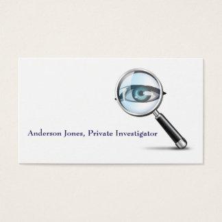Carte de visite de détective d'investigateur privé