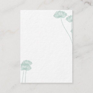 Carte De Visite Fleur Pissenlit
