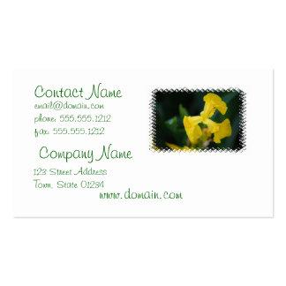 Carte de visite de fleur d'iris jaune