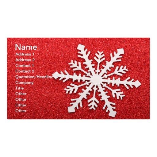 Carte de visite de flocon de neige
