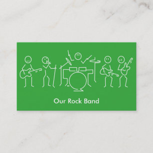 Carte De Visite Groupe Rock