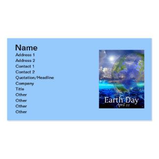 Carte de visite de jour de la terre