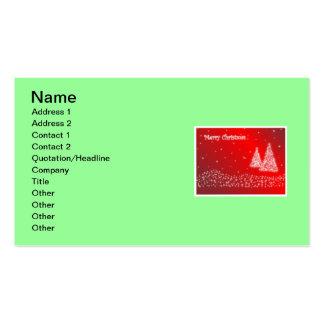 Carte de visite de Joyeux Noël
