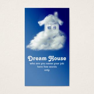 carte de visite de maison pour l'agent immobilier
