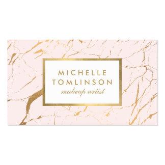 Carte de visite de marbre de rose et de concepteur