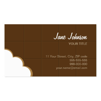 Carte de visite de morsure de chocolat