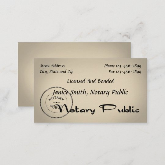 Carte De Visite Notaire