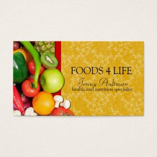 Carte de visite de nutritionniste