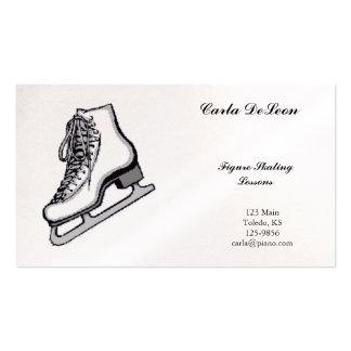 Carte de visite de patinage de glace