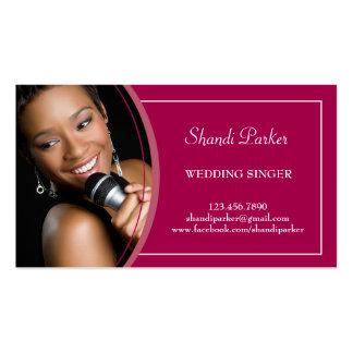 Carte de visite de photo de chanteur de mariage de