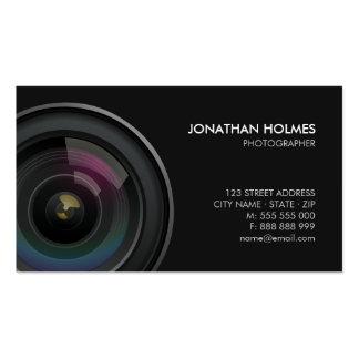 Carte de visite de photographe d objectif de camér