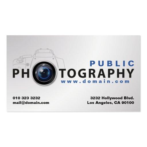 Carte de visite de photographie