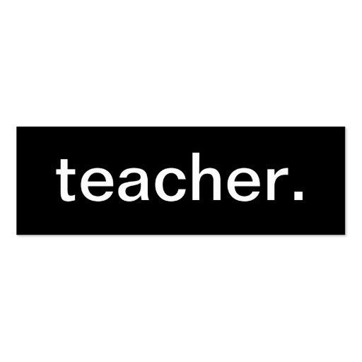 Carte de visite de professeur