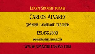 Carte De Visite Professeur Langue Espagnole