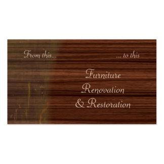 Carte de visite de restauration de meubles