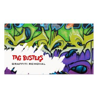 Carte de visite de retrait de Graffitit