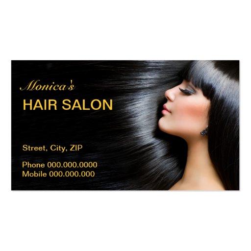 Carte de visite de salon de coiffure