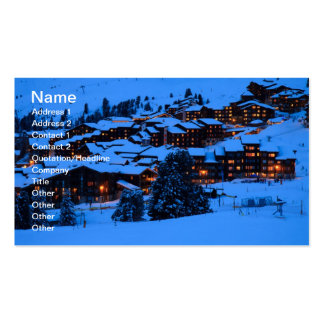 Carte de visite de scène d hiver