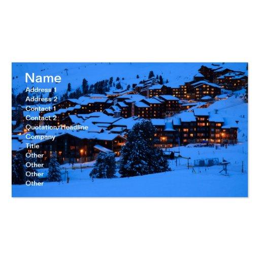 Carte de visite de scène d'hiver