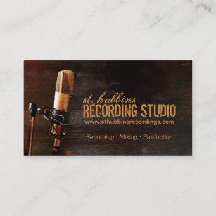 Carte De Visite Studio Musique Microphone