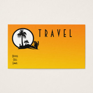 Carte de visite de taille standard de voyage
