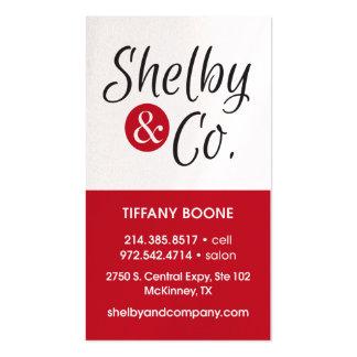 Carte de visite de Tiffany Boone nouveau