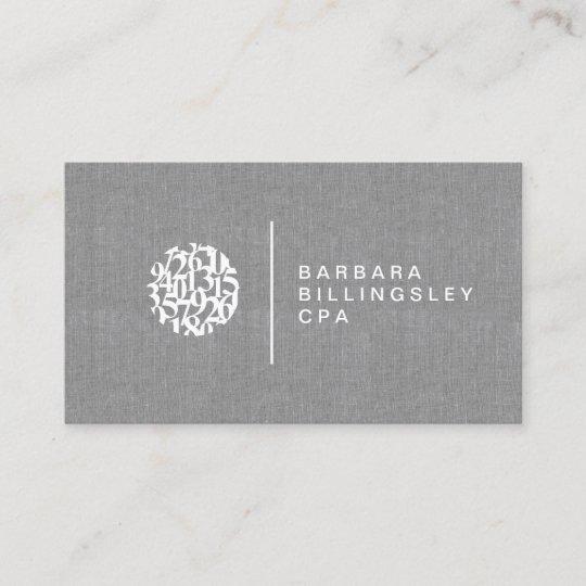 Carte De Visite Toile Comptable Logo
