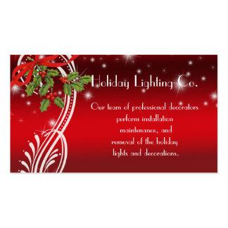 Carte de visite de vacances de Noël