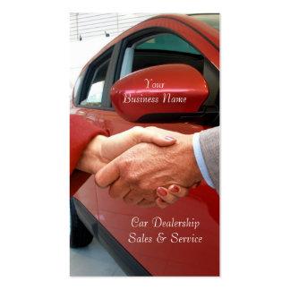 Carte de visite de ventes d'automobile