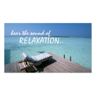 carte de visite de voyage de relaxation