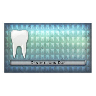 Carte de visite dentaire de bureau de dentiste ble