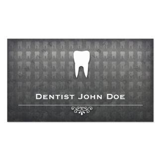 carte de visite dentaire de bureau de dentiste gri
