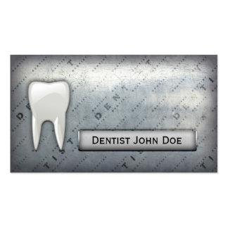 carte de visite dentaire de bureau de dentiste mét