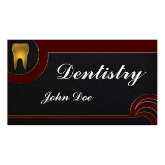 Carte de visite dentaire de dentiste d or élégant