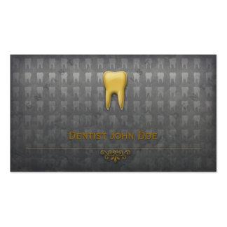 carte de visite dentaire de dentiste d or métalliq