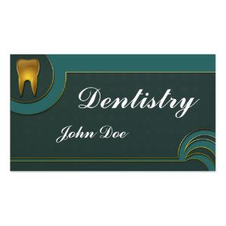 Carte de visite dentaire de dentiste d'or élégant