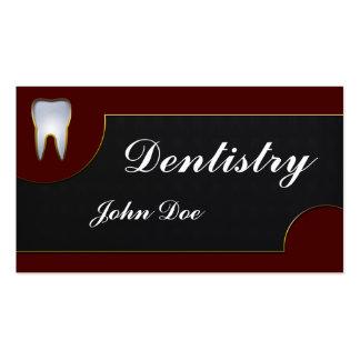 Carte de visite dentaire de dentiste élégant d'art