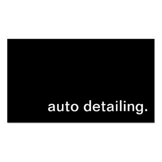 Carte de visite détaillant automatique