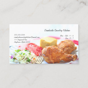 Carte De Visite Diner Poulet Frit Plan Rapproche Avec