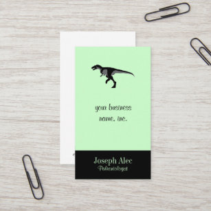 Carte De Visite Dinosaure DAlectrosaurus