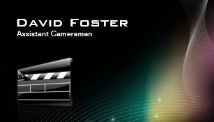 Carte De Visite Directeur Cameraman Auxiliaire Film