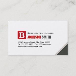Carte De Visite Directeur Construction