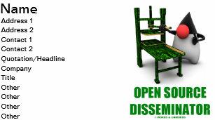 Carte De Visite Disseminateur DOpen Source Duc Gutenburg