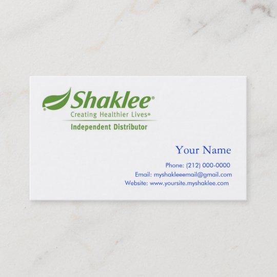 Carte De Visite Distributeur Dindpendant Shaklee