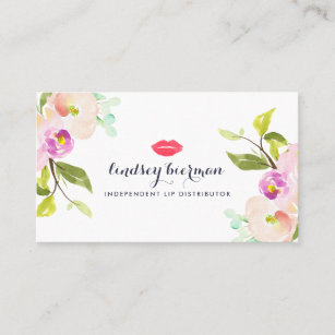 Carte De Visite Distributeur Floral Moderne Produit Lvre