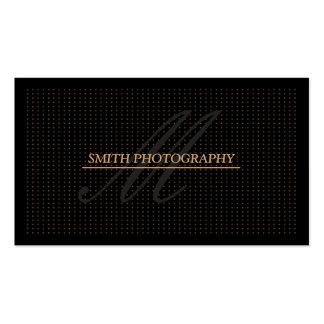 Carte de visite d'or moderne de noir de photograph
