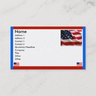 Carte De Visite Drapeaux Americains