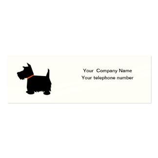 Carte de visite écossais de silhouette de chien de